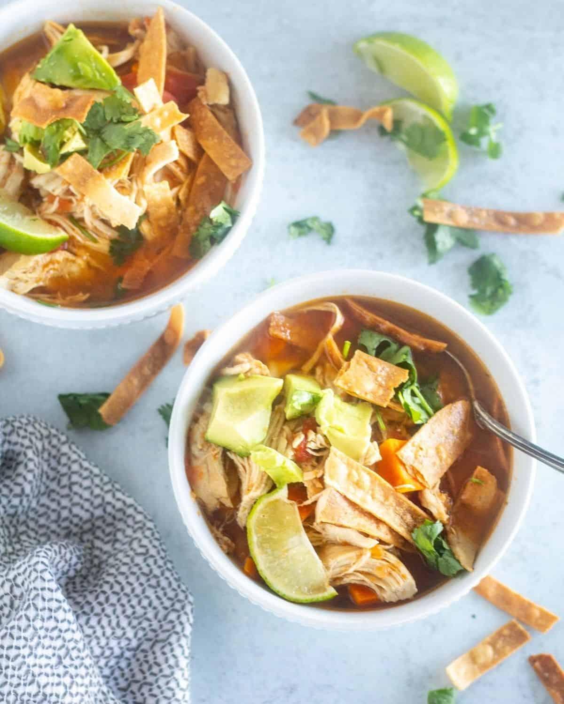 Keto Chicken Tortilla Soup