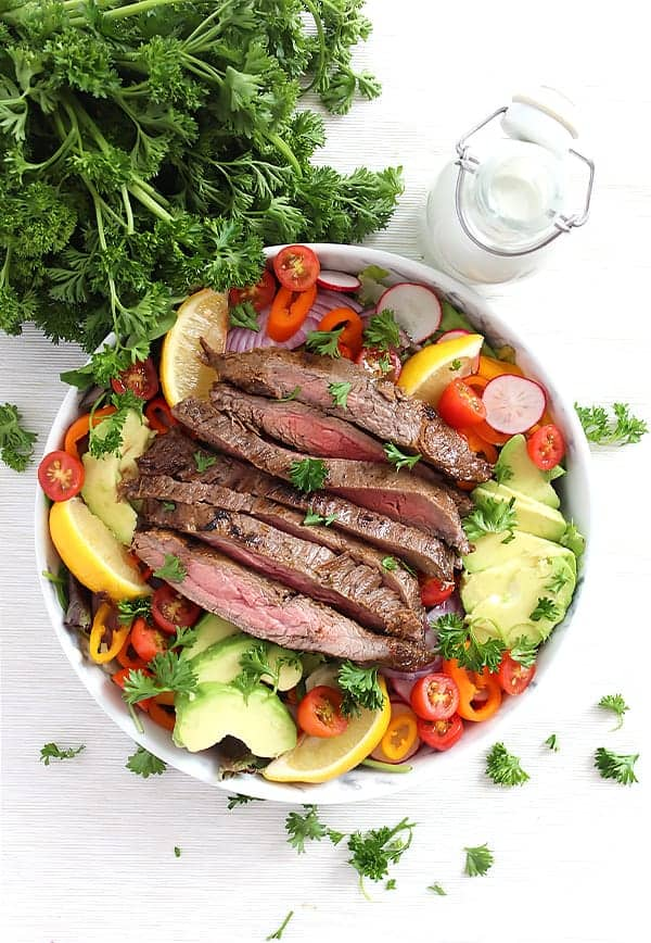Steak Salad with Blue Cheese Dressing