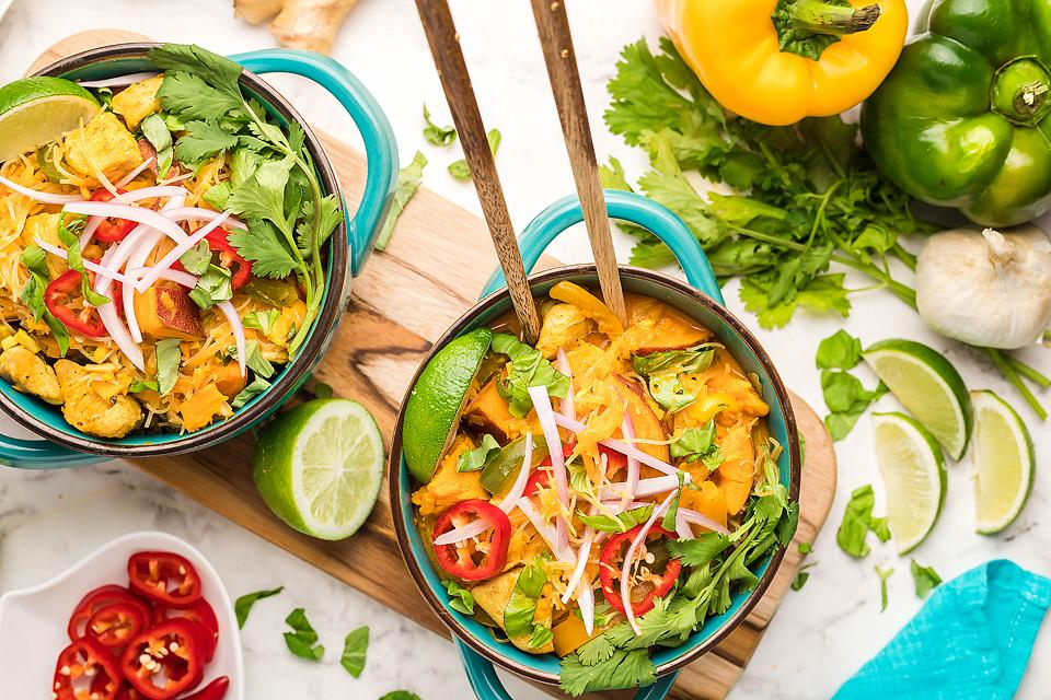 Red Thai Coconut Chicken Soup
