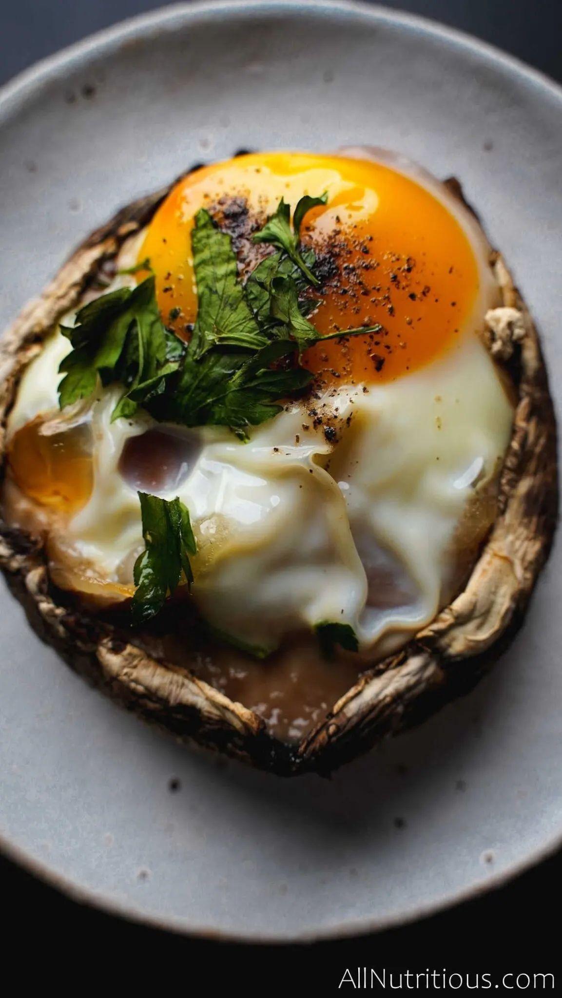 5-Ingredient Mushroom Egg Cups