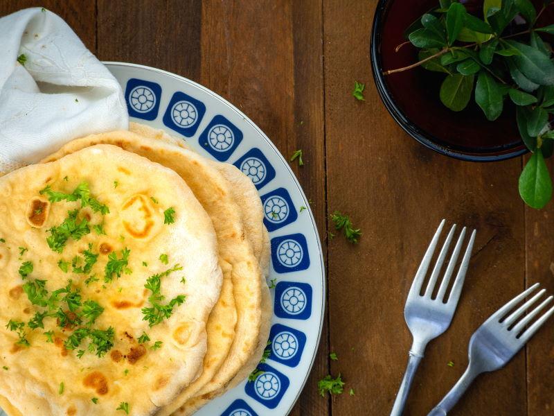 Pumpkin & Garlic Naan Bread