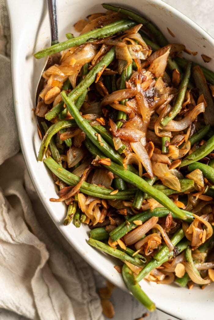 Sauteed Green Beans with Garlic and Onions