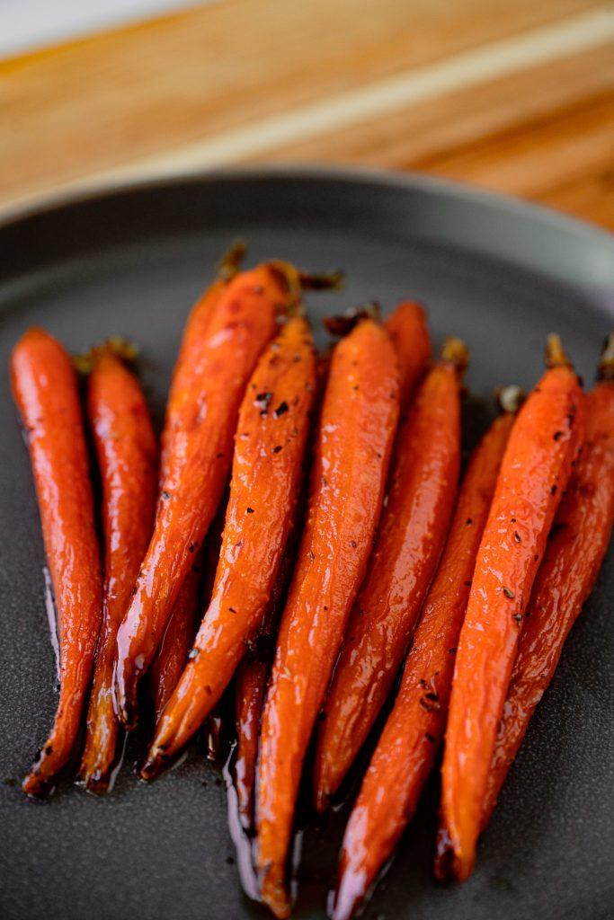 Vegan Maple Glazed Carrots