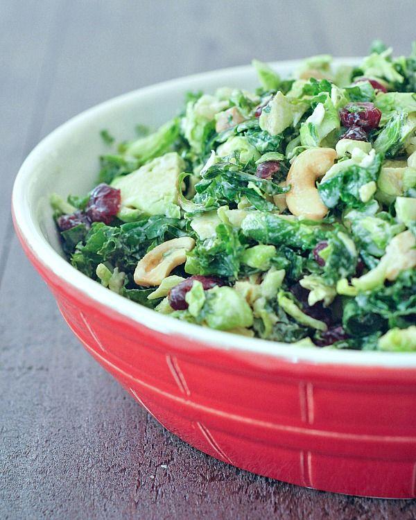 Lemony Brussels and Kale Chiffonade Salad