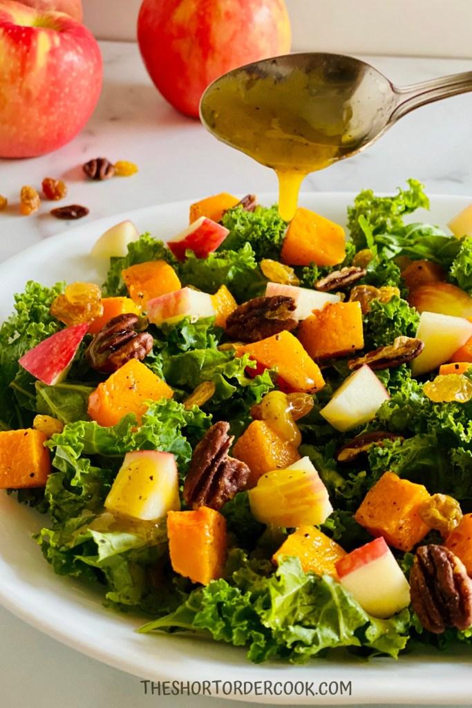 Butternut Squash, Apple, and Kale Salad