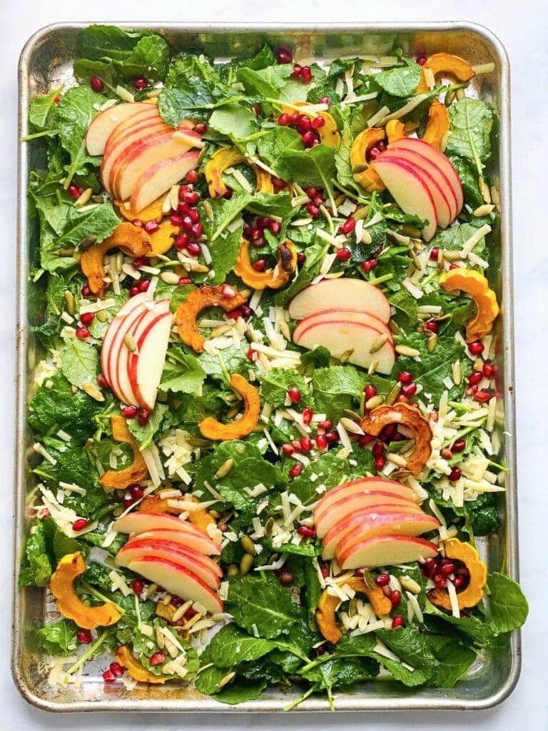 Fall Salad with Delicata Squash